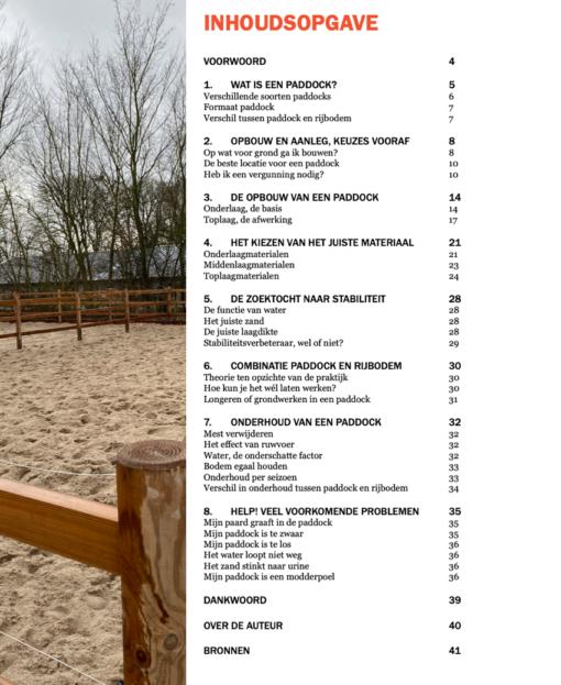 Paddock paarden ebook inhoudsopgave 1.1.0